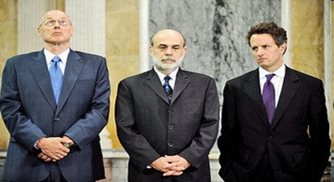 Paulson Bernanke Geithner