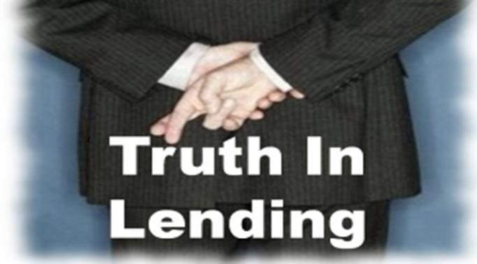 Truth In Lending Finance Charge Simple Car Loan