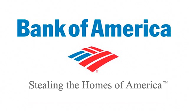 Bank of America Stealing Homes