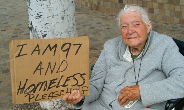 old and homeless