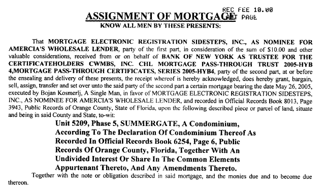 MERS Assignment Fail: Mortgage Electronic Registration Sidesteps, Inc.